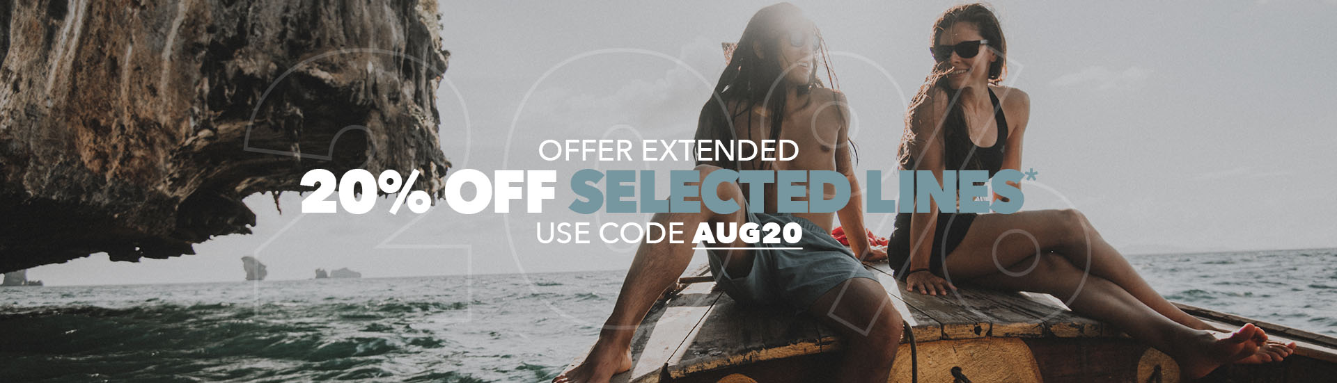 20% Off Selected Lines Offer Extended